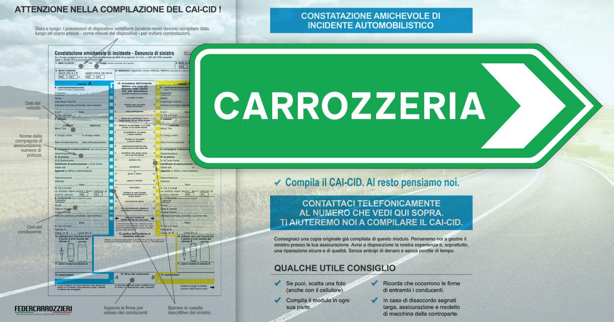 Constatazioen Amichevole d'Incidente (CAI in carrozzeria)